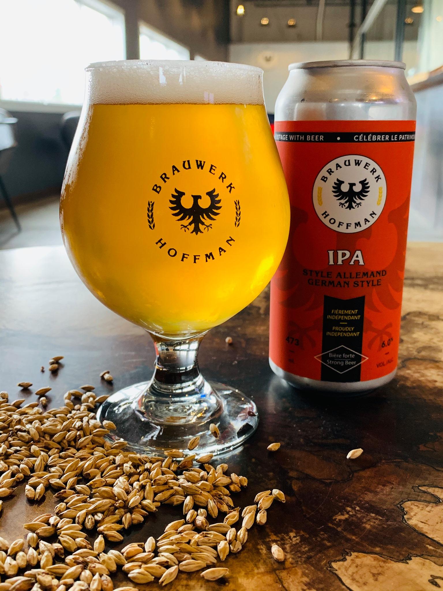 IPA Beer & Glass at Brauwerk Hoffman Rockland Brewery